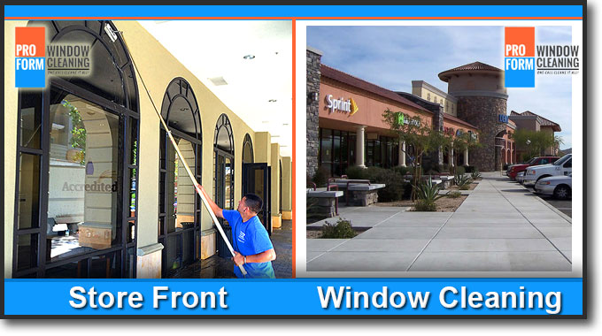 Store Front Window Cleaning