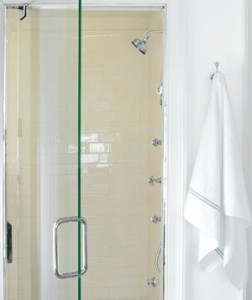 clean shower doors, hard water stains, spots removed