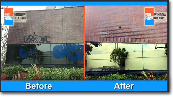graffiti removal before and after